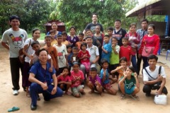Children at BCI (Bridges Cambodia International) Orphanage in Peakental Village, Battanbang Province