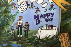The Dream Tree Collaborative Mural: Best Day of My Life Theme